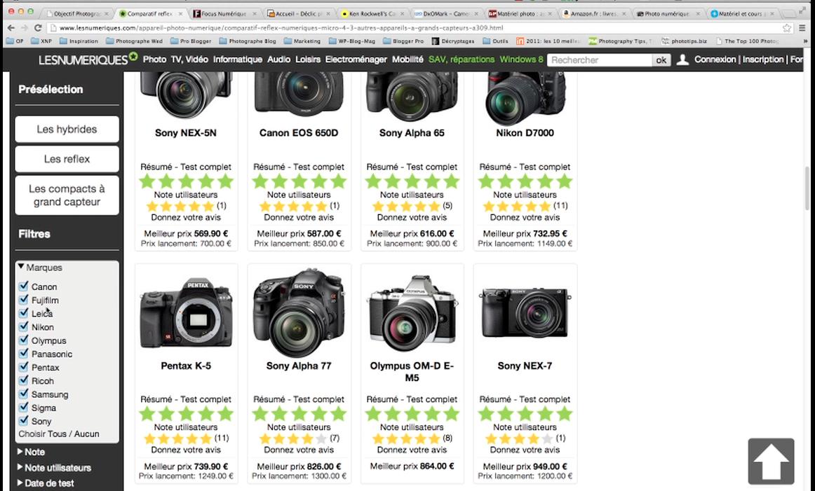 Comparer, choisir et acheter son matériel photo grâce à internet