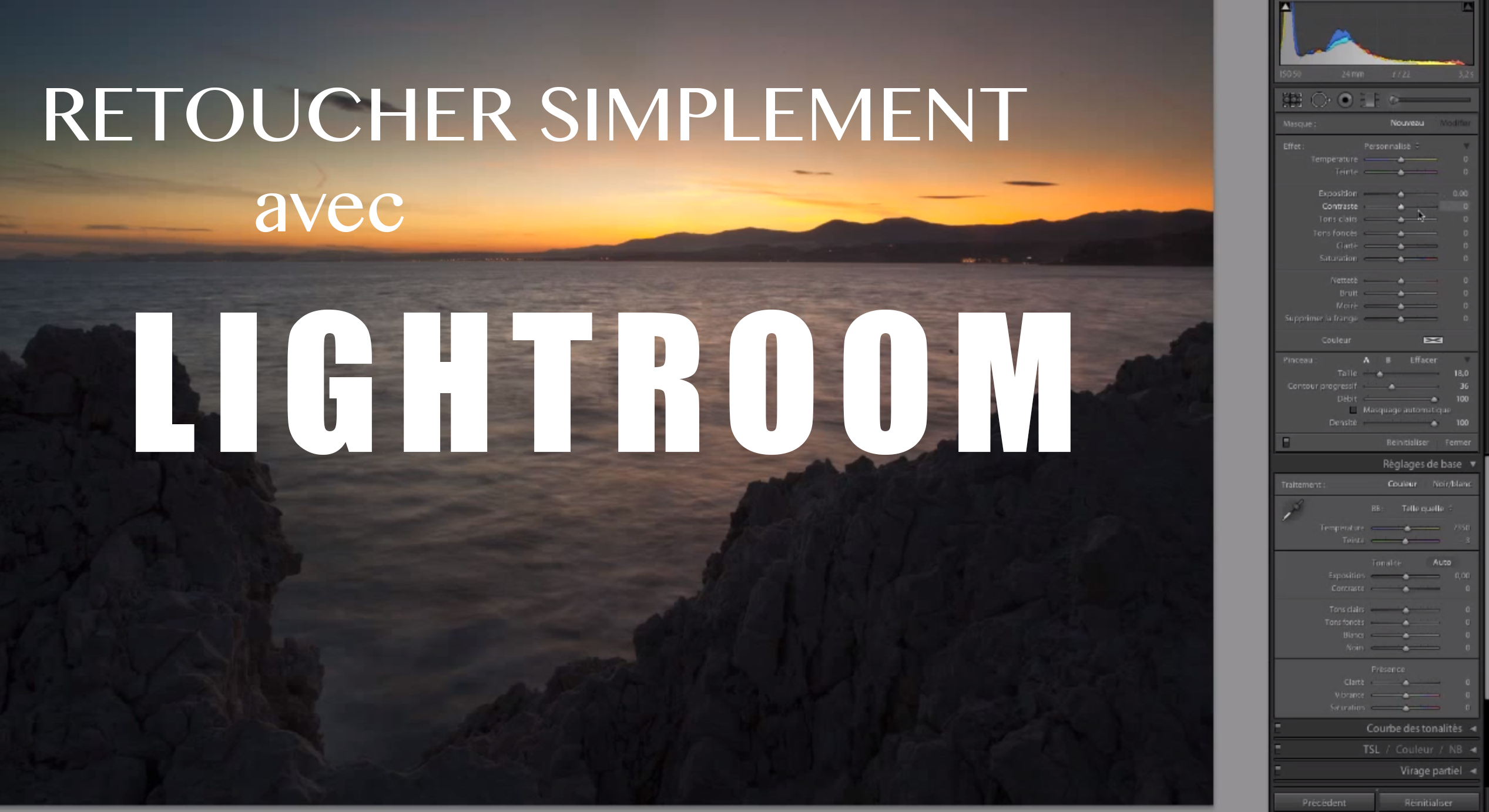 Retouche photo sur Lightroom