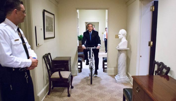 George W Bush, ou la vie «banale» d'un président