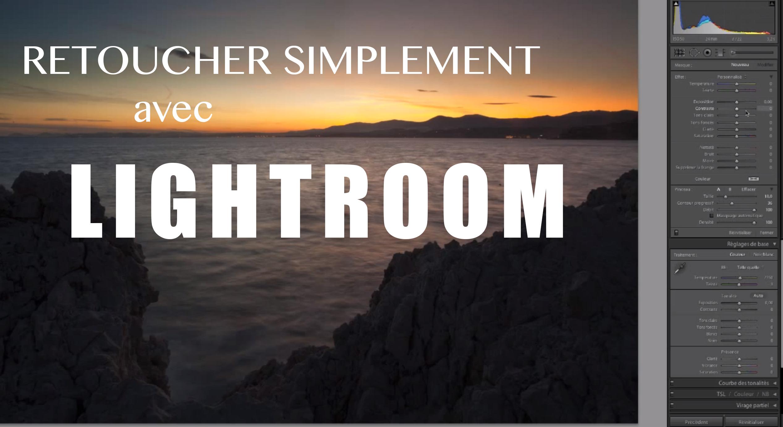 Retouche photo sur Lightroom